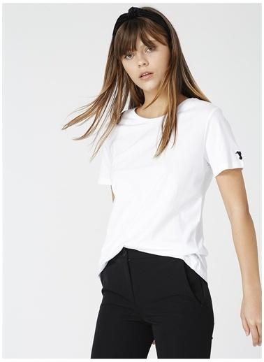 Fabrika Fabrika Tengiz Beyaz Bisiklet Yaka Kadın T-Shirt Beyaz